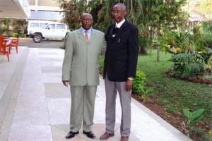 Nyetera et son ami Maremba à Bruxelles