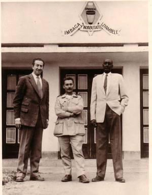 Rudahigwa et son conseiller Marcel Pochet