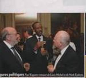 Louis Michel et Paul Kagame chez le Comte Hervé de Liedekerke/Paris Match